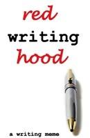 red writing hood