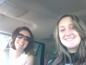Cait & I in the car