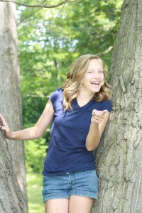 natalie in the tree