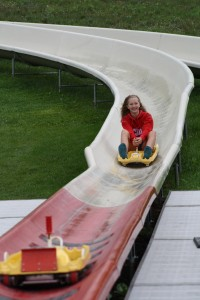 Natalie on the slide