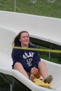 Cait on the slide