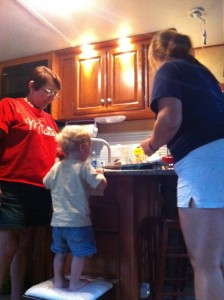 Making cookies with grandma