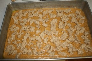 Pumpkin Crunch Cake - with topping