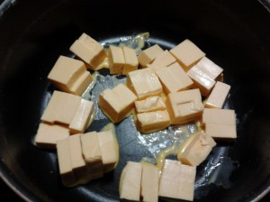 rusti cheese in pan
