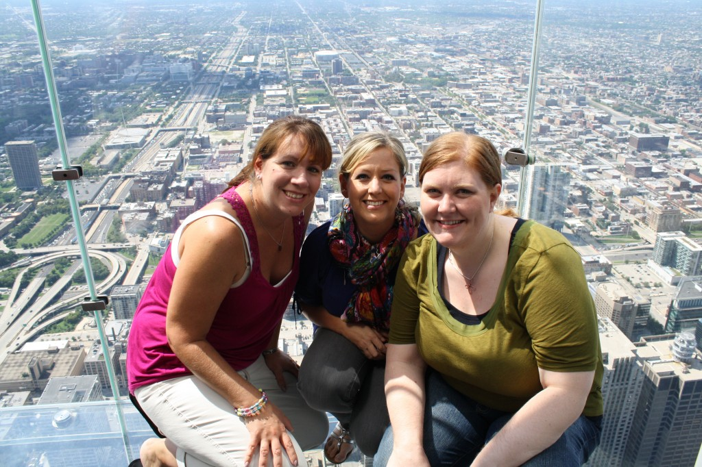 Myself, Amy, and Julie at Sears Tower