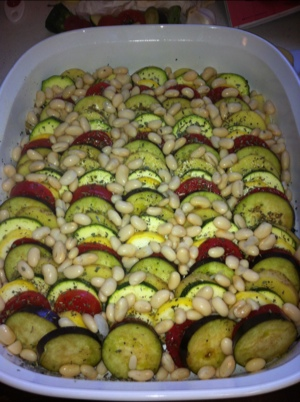 veggies ready for the oven