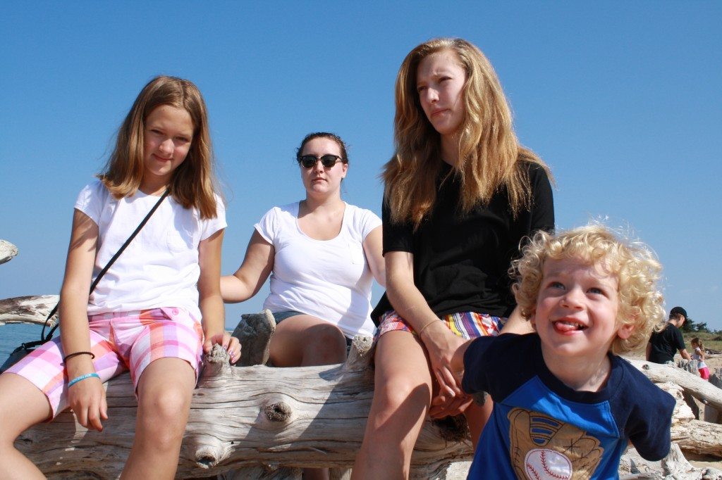 kids at Whitefish Point