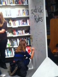 signing rodericks door