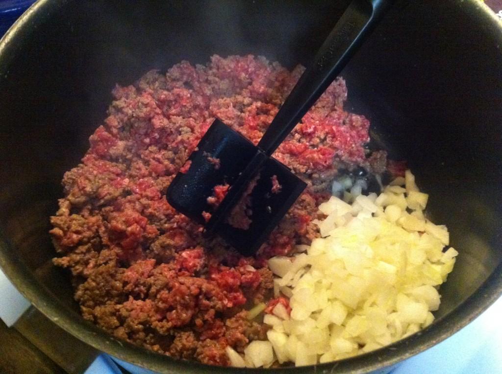 burger & onions