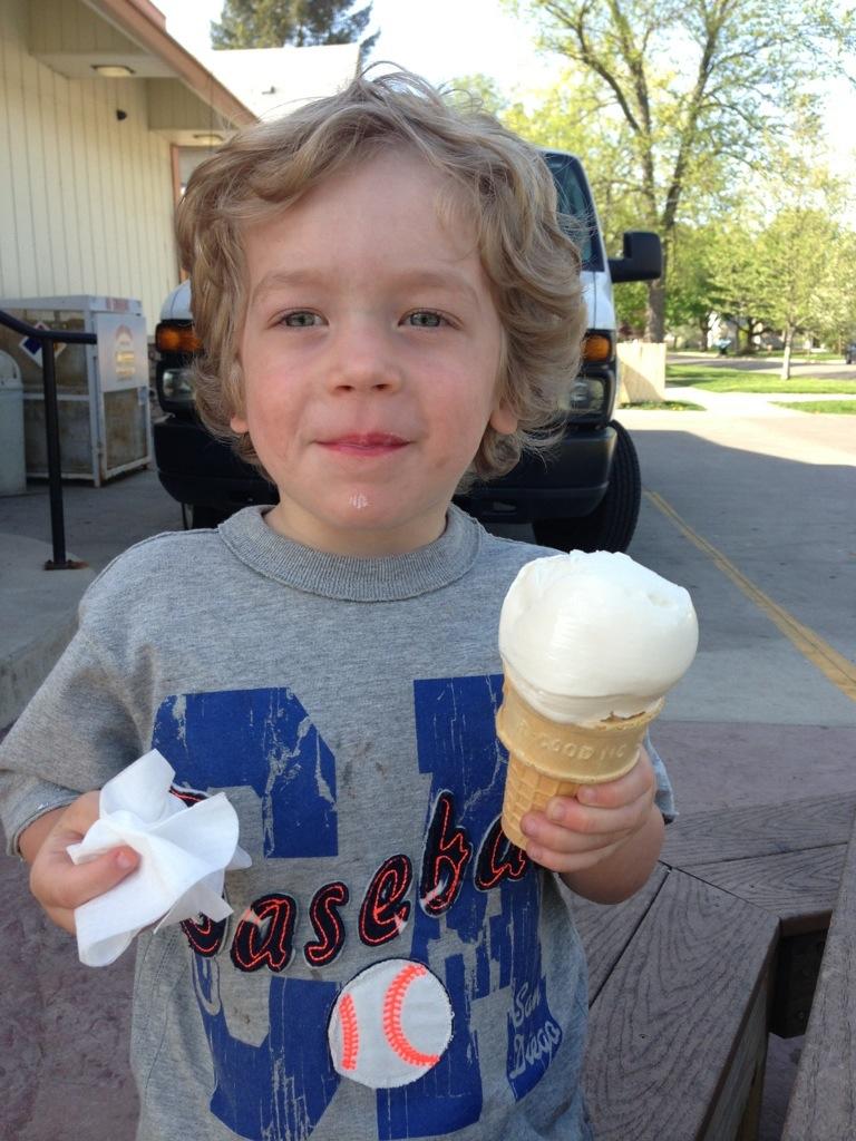 Andrew & his ice cream