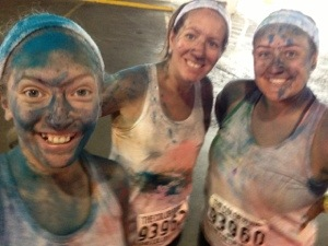 group shot - color run