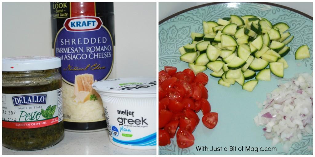 creamy pesto pasta salad ingredients