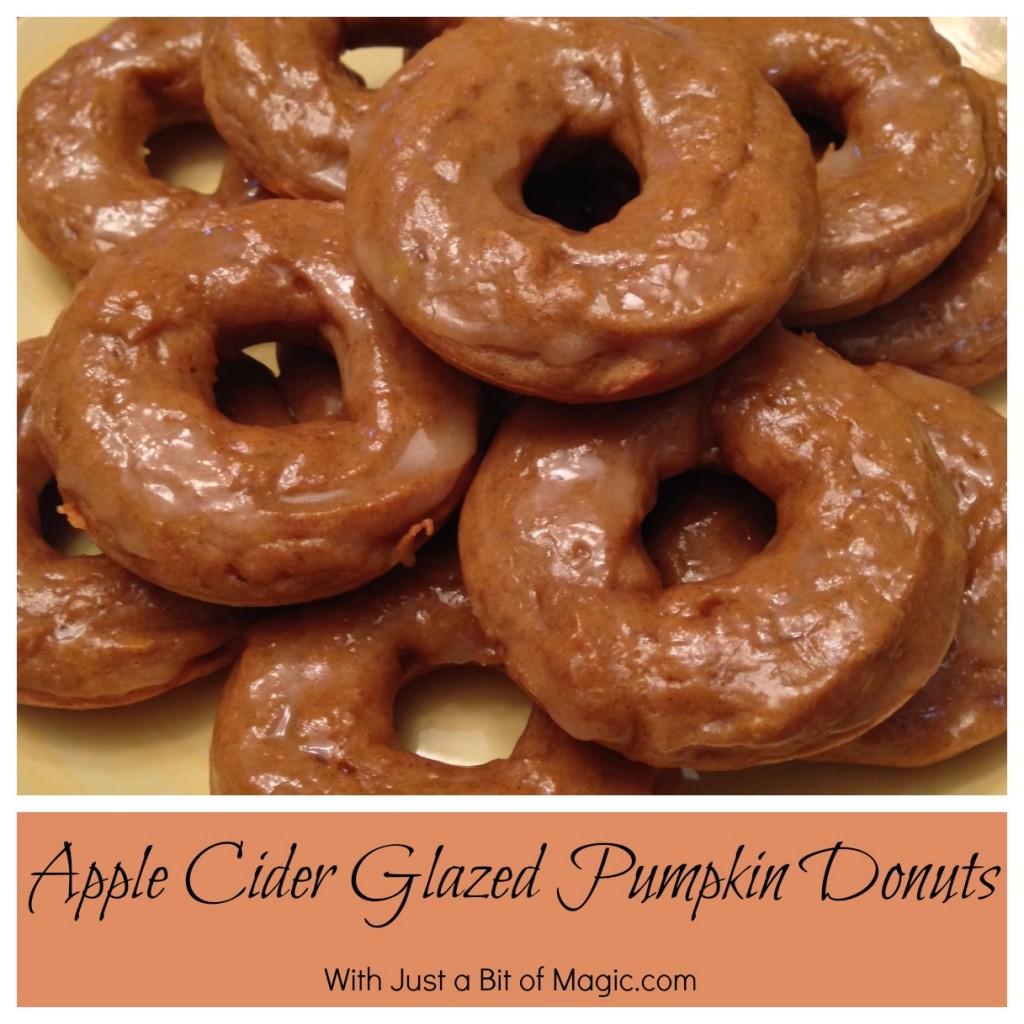 cider glazed pumpkin donuts