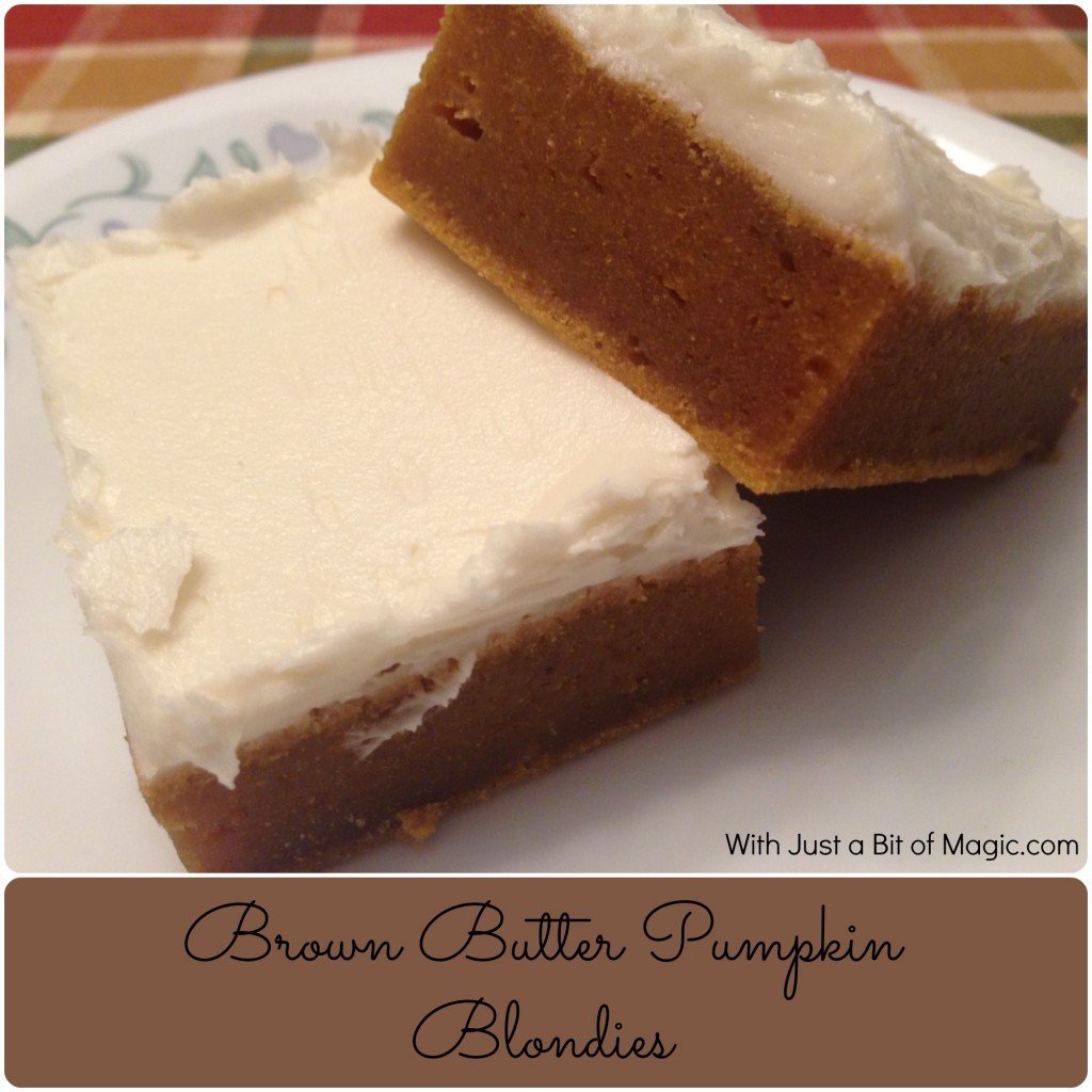 Brown Butter Pumpkin Blondies