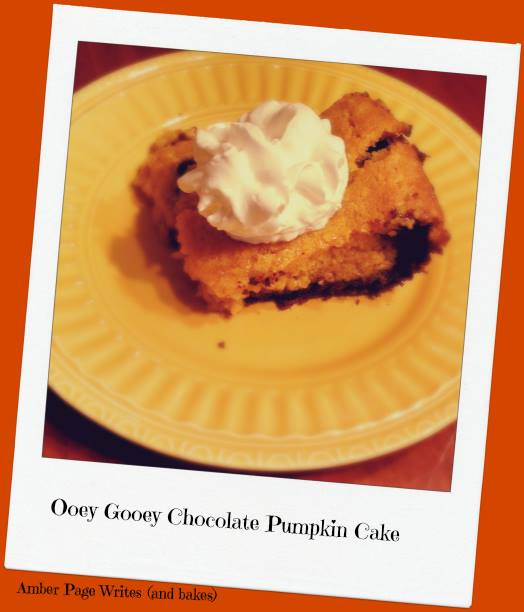 ooey gooey pumpkin and chocolate cake